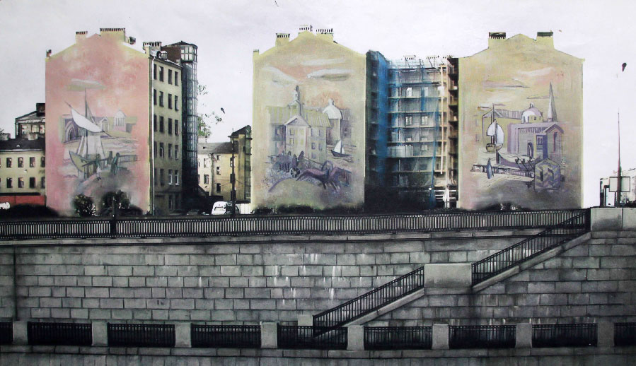 Mural Project for facades of three buildings