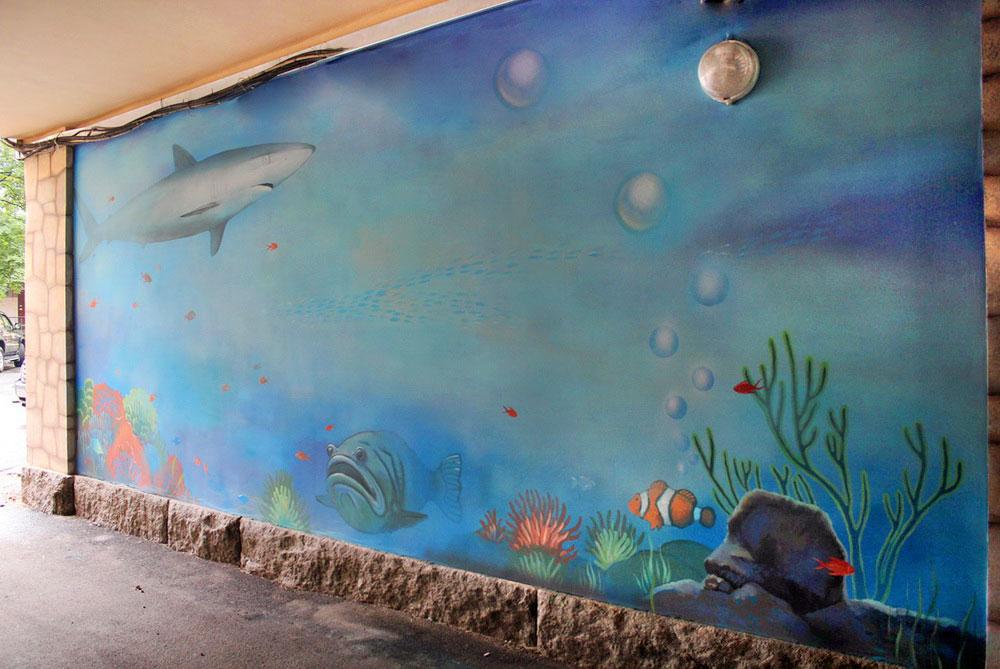Mural in an Archway «Aquarium»