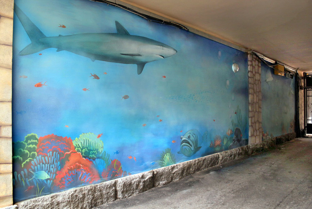 Mural In An Archway 171 Aquarium 187 Denver Custom Wall Murals