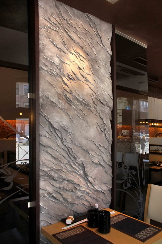 Interior wall decorations in japanese restaurant denver