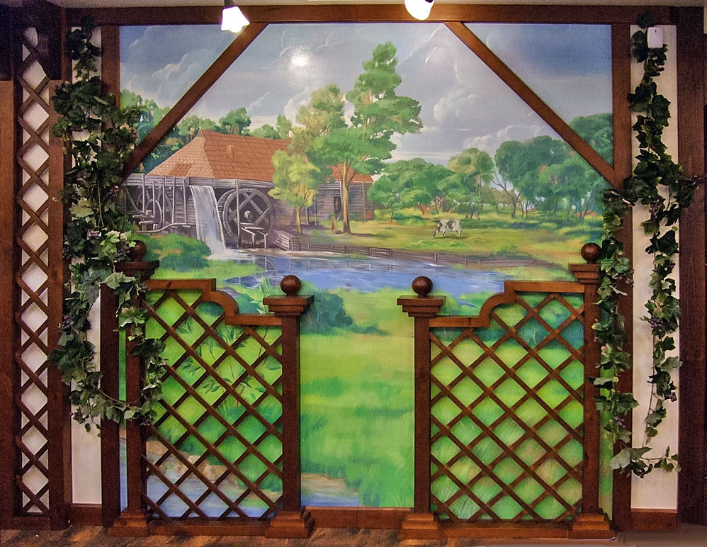 Murals in an Irish Pub «European landscape»