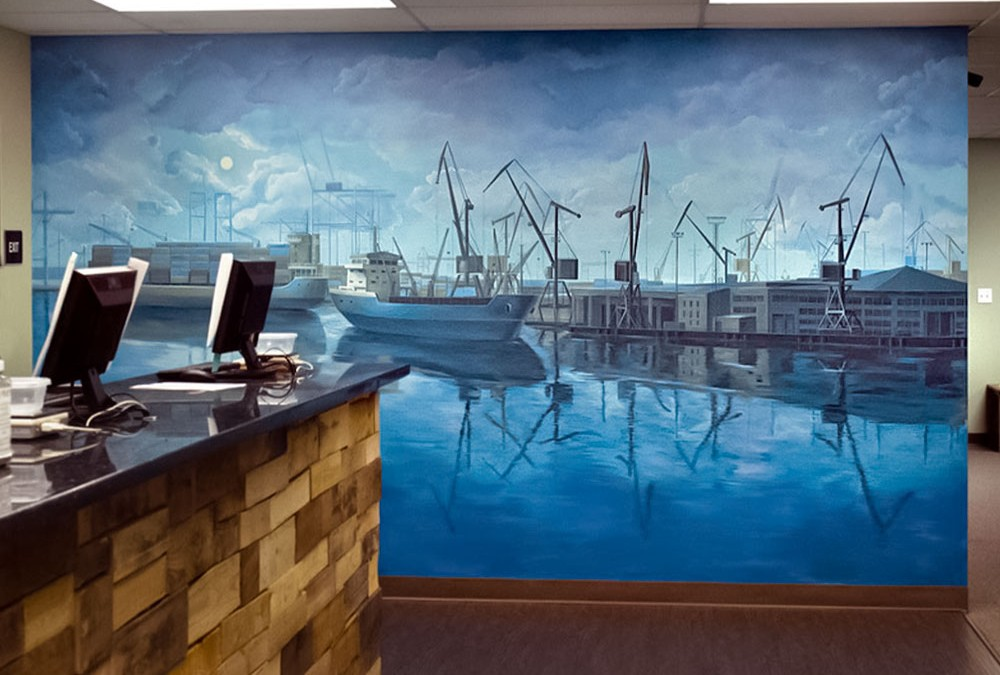"Mural for Marijuana Dispensary ""Port of Oakland"""