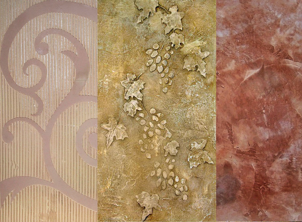 Examples of Texture Designs and Reliefs