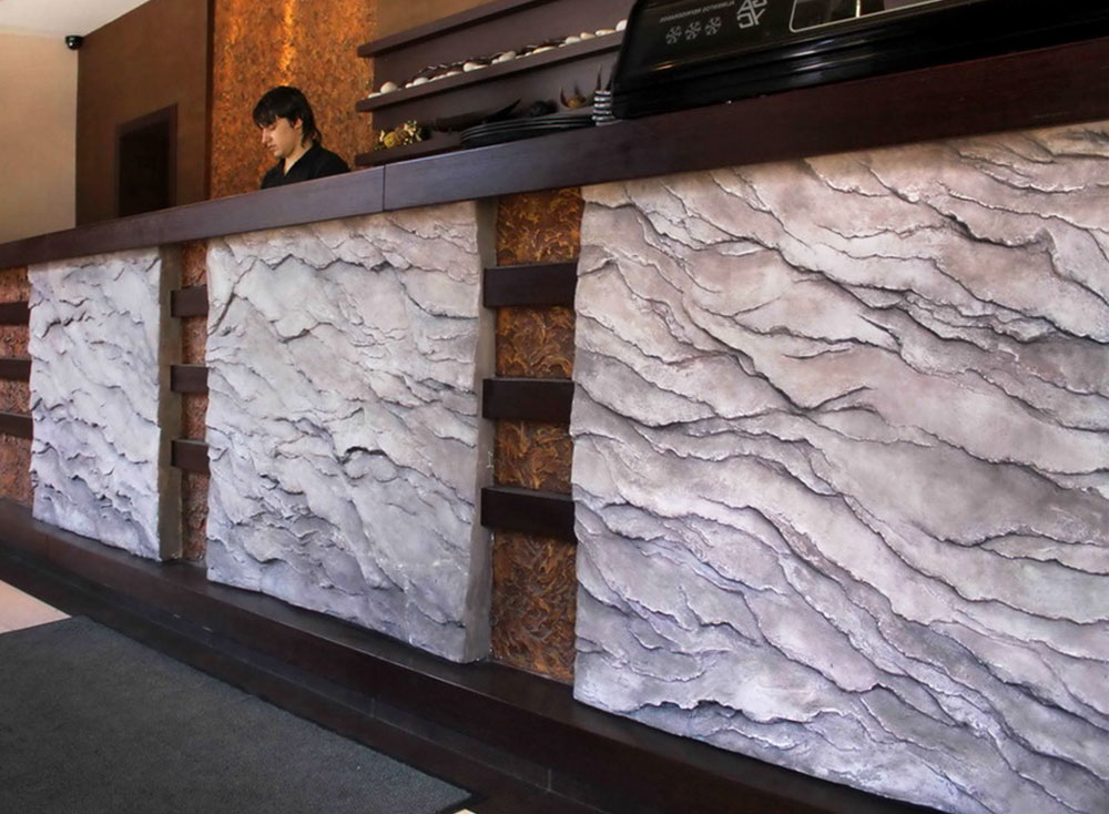 Interior Wall Decorations in Japanese Restaurant