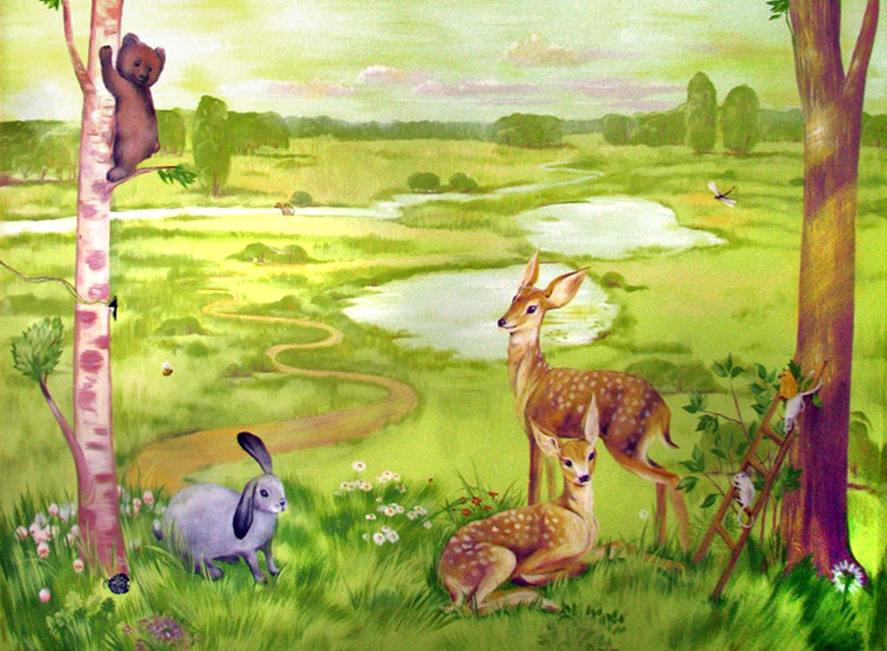 Hand Painted Wall Murals For Kids Part 57