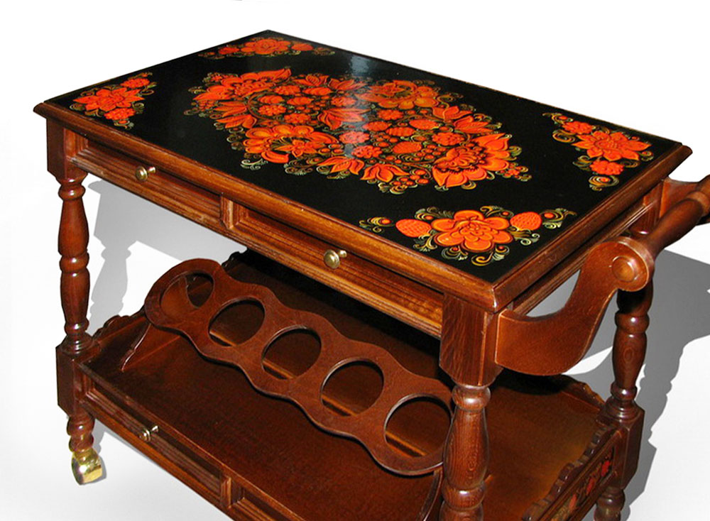 Decorative Painting of the Furniture