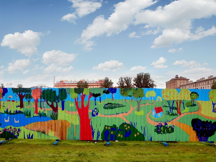 Best Practices in the creation of Fence murals,  Rules of composition for long format walls