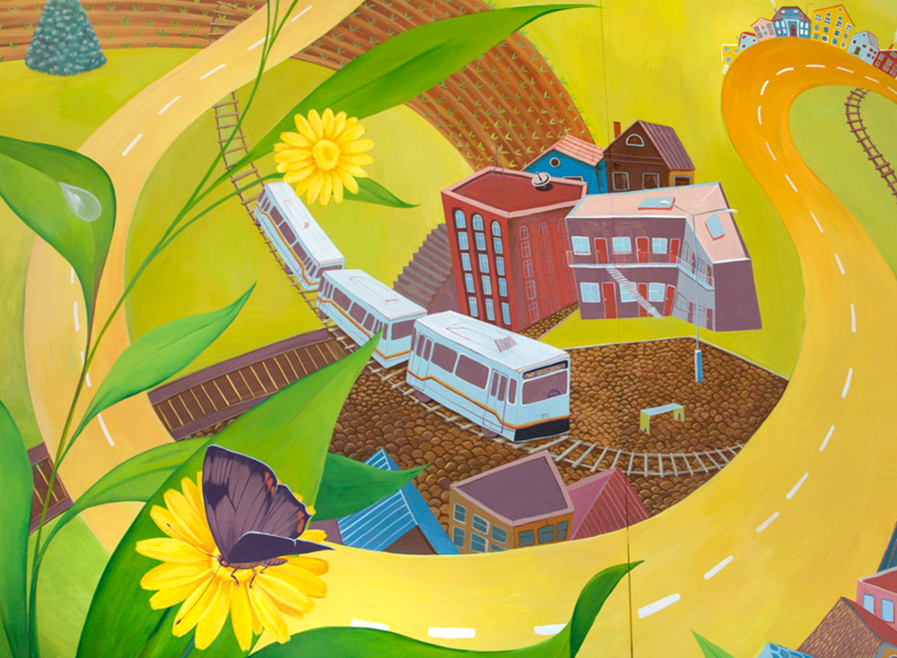 "Mural ""Golden Road"" for the West Colfax Mural Fest"