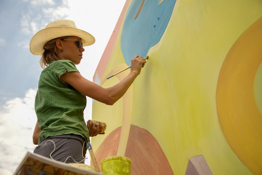 "West Colfax Mural Fest, ""Golden Road"", Yulia Avgustinovich wall mural"