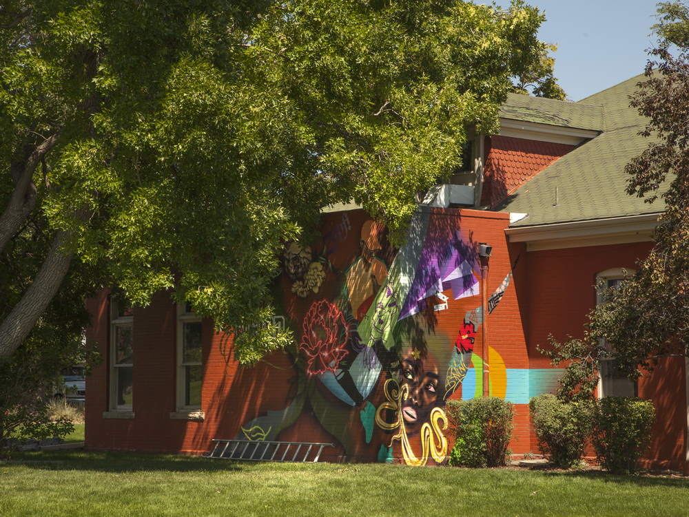 "West Colfax Mural Fest, ""Golden Road"", Yulia Avgustinovich wall mural"