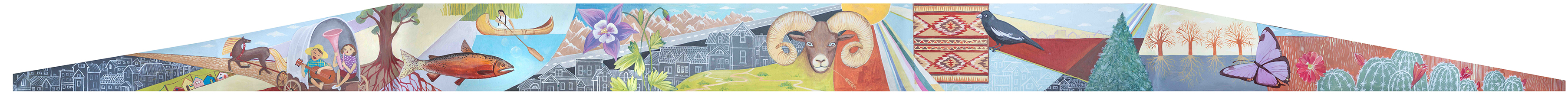 Mural in Denver, W Alameda and Santa Fe dr, Mural concept by Yulia Avgustinovich