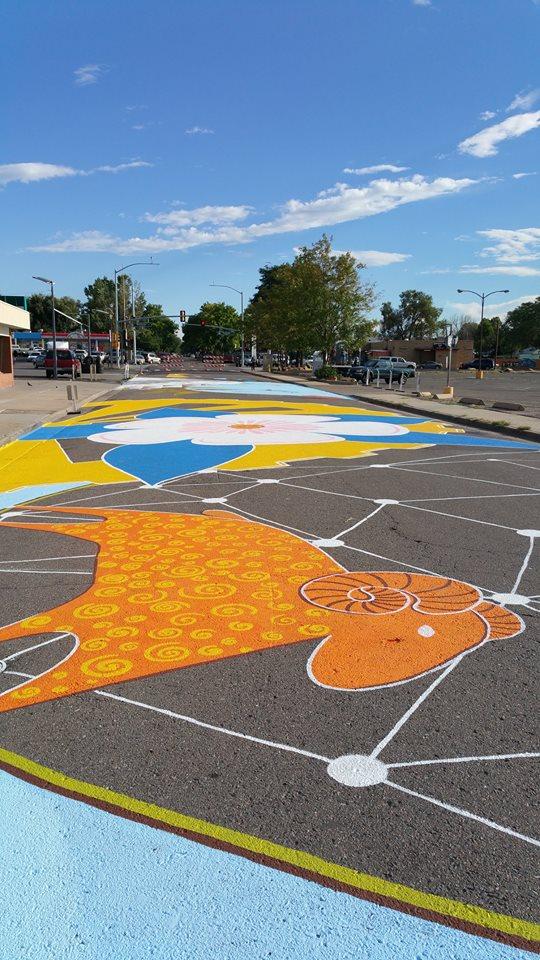 Aurora Street mural Yulia Avgustinovich Denver Colorado Muralist