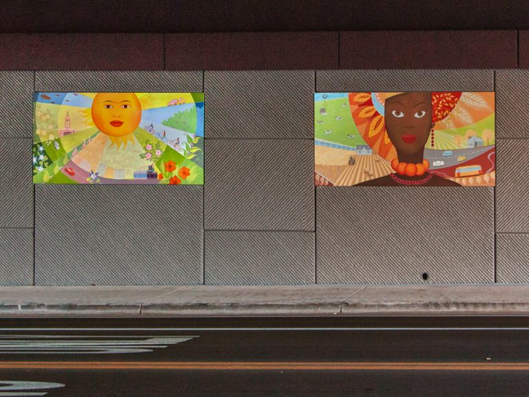"Underpass Mural ""The Four Graces"" in Lakewood,CO"