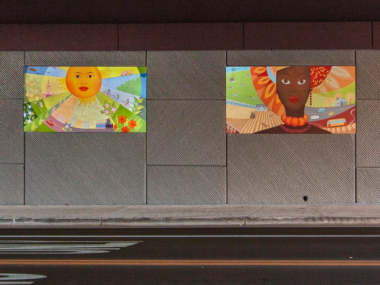 wall murals denver muralist and decorative painter underpass mural the four graces in lakewood co