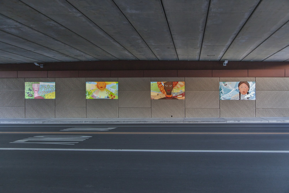 Underpass Four Piece Mural In Lakewood Colorado