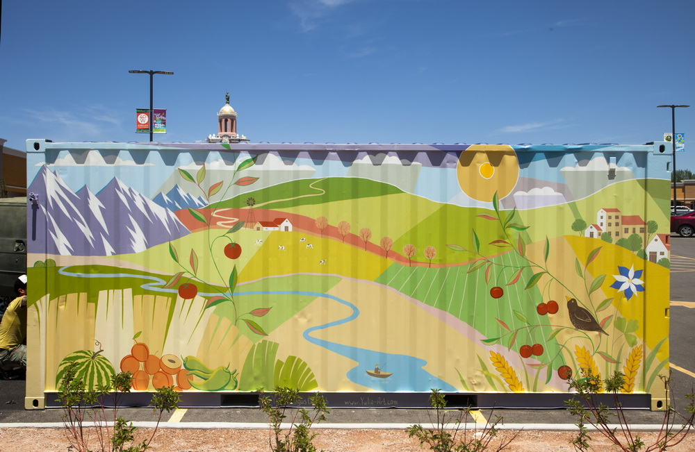 Farmers Market Mural on West Colfax Ave. in Lakewood, CO