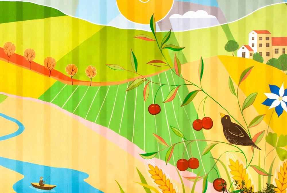 Farmers Market Mural in Lakewood