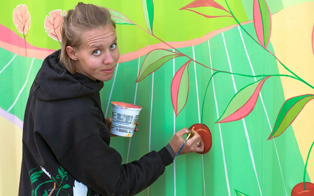 Farmers Market Mural Painting