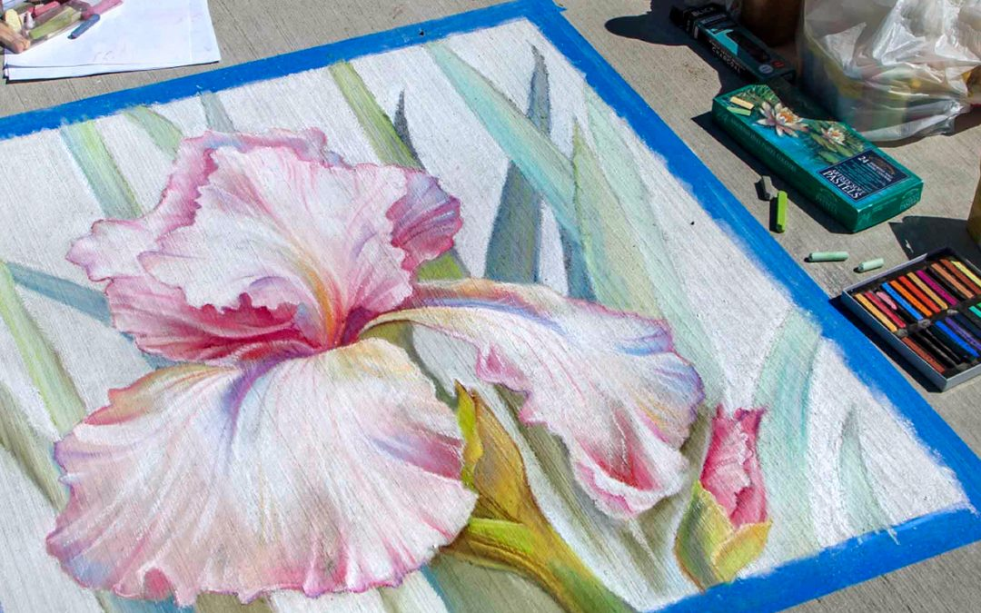 Sidewalk Chalk Art for the 7/20 Memorial Foundation Fundraiser in Aurora, CO