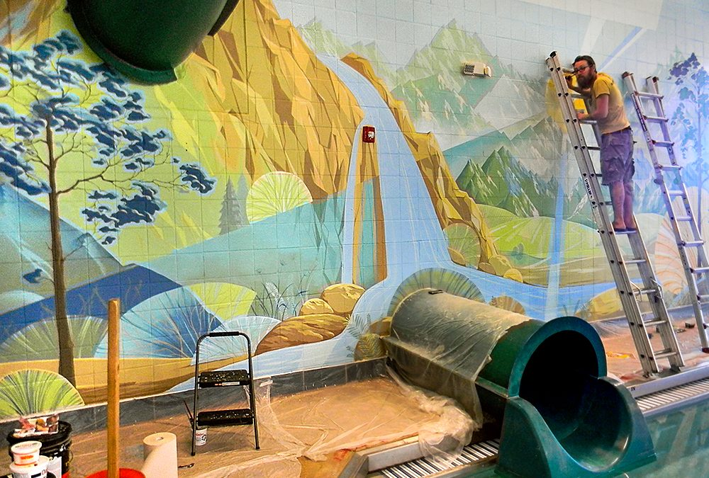 The Creation of an Interior Mural for a Swimming Pool