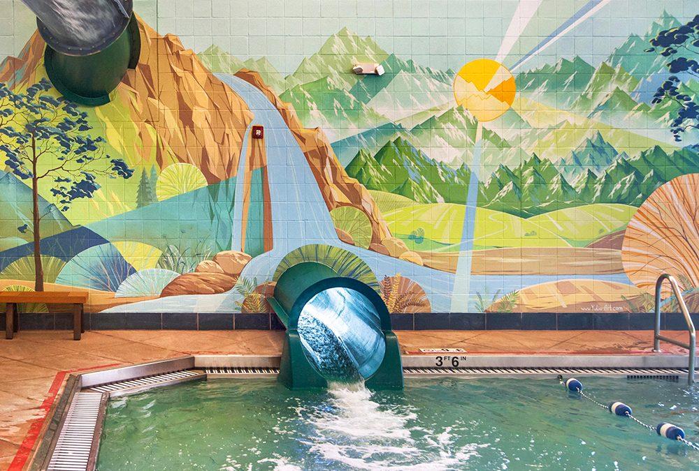 Swimming Pool Mural for Lakewood Link Recreation Center
