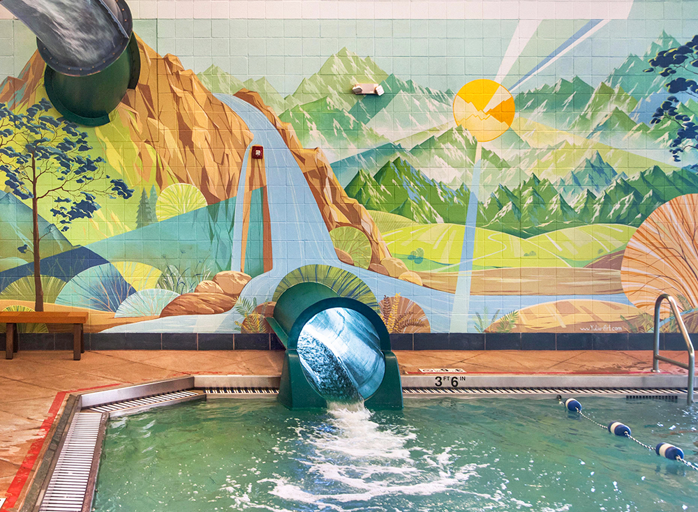 Swimming Pool Mural for Lakewood Link Recreation Center