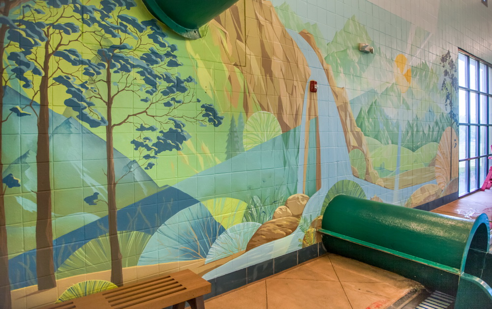 Swimming Pool Mural For Lakewood Link Recreational Center
