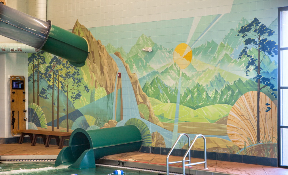 Lakewood_Link_Recreation_Center_Swimming_pool_Mural_Yulia_Avgustinovich_Denver_Muralist_Public_Art
