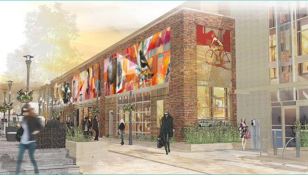 mural design for elizabeth hotel fort collins colorado. Black Bedroom Furniture Sets. Home Design Ideas