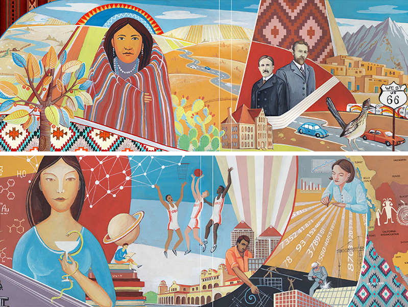 Mural Design for University of New Mexico in Albuquerque