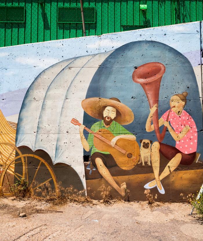 Vandalism graffiti and mural contest