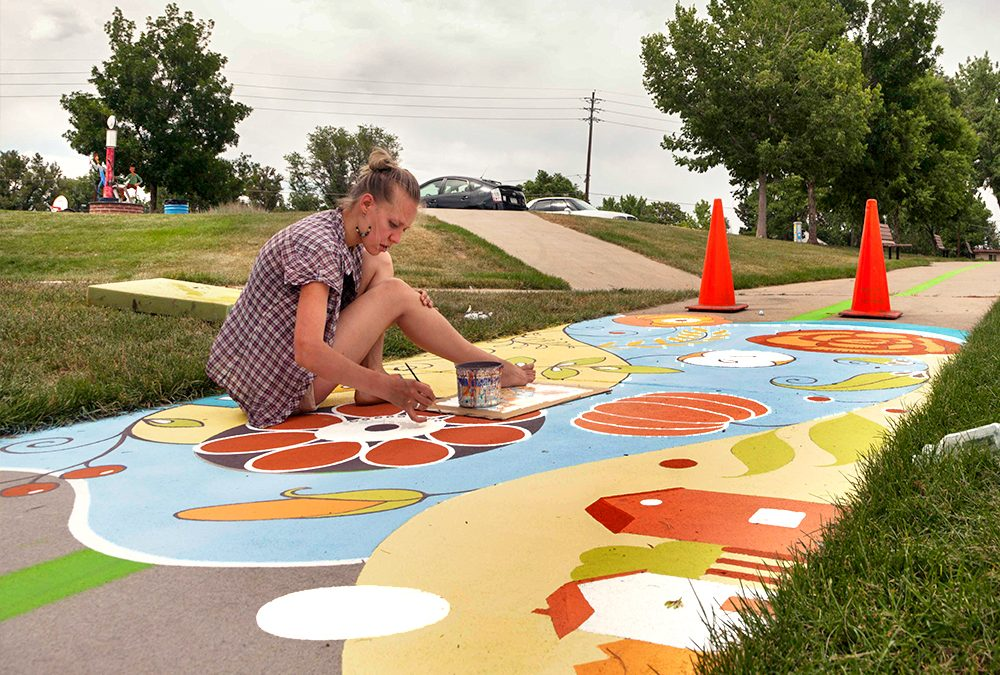 Ground Mural Painting in Mountair Park
