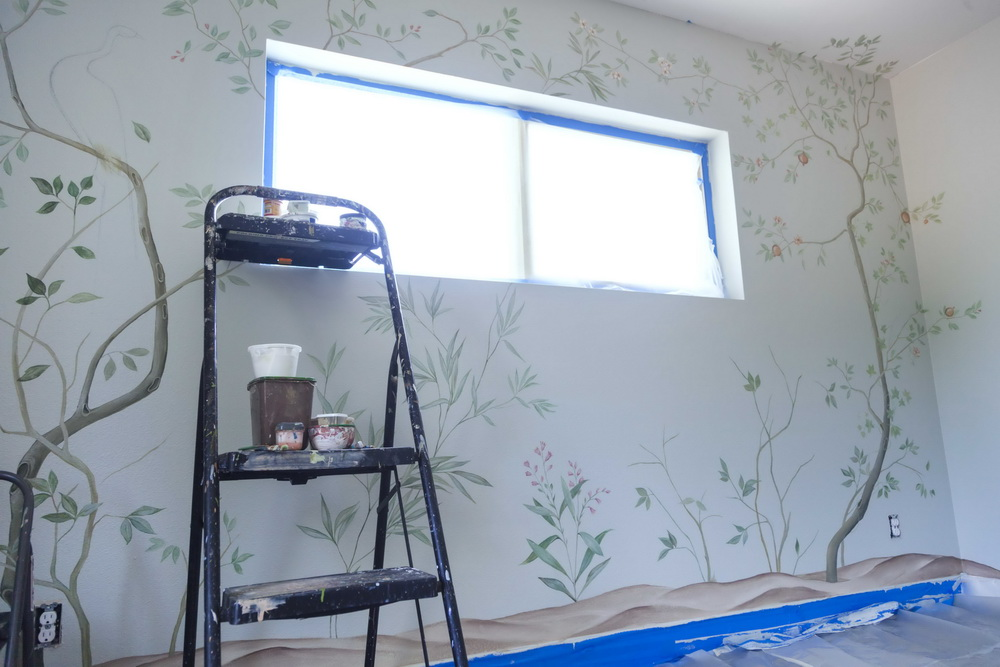 The Creation of Nursery Mural in Chinoiserie Style