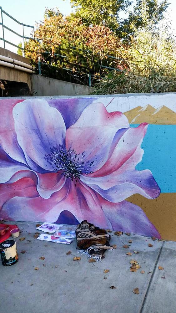 Underpass mural_Tunnel_Mural_Painting_Longmont_Colorado_Art_Yulia_Avgustinovich_Denver_Muralist