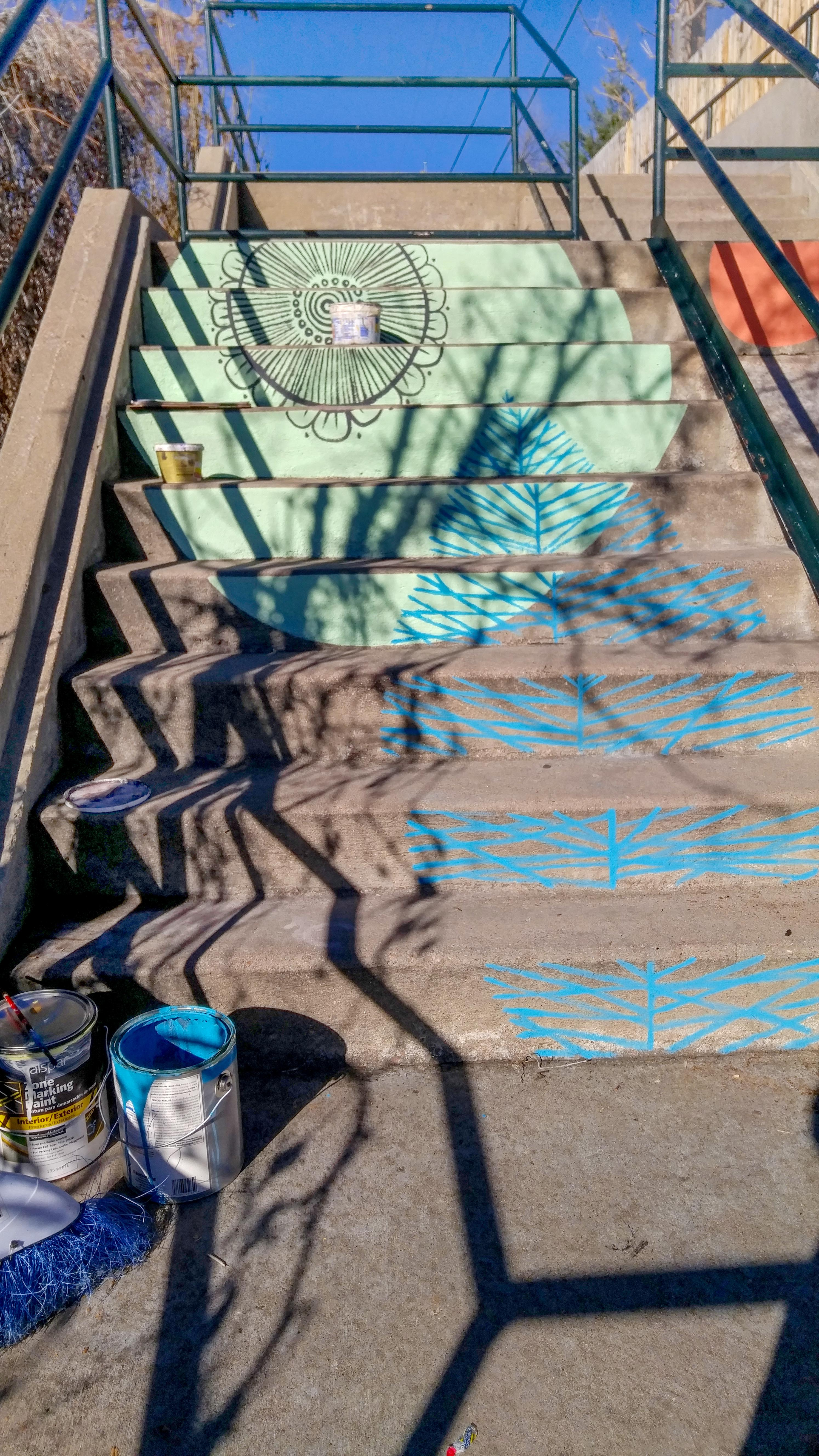 Painted Stairs Project On Oneida Street In Denver Co