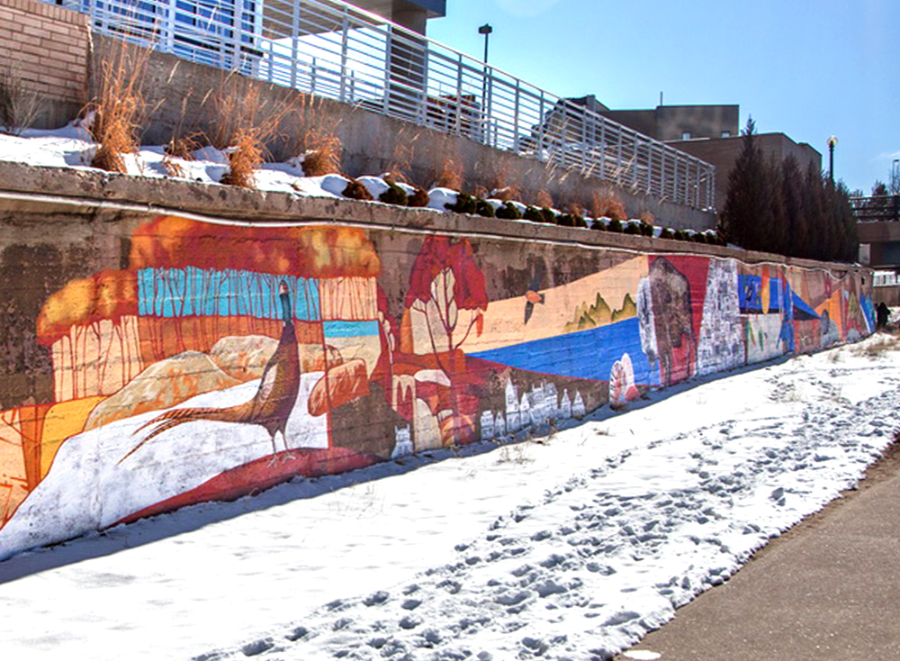 Denver Urban Arts Fund Mural at the Cherry Creek Trail