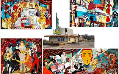Murals for Aurora Fox Theater