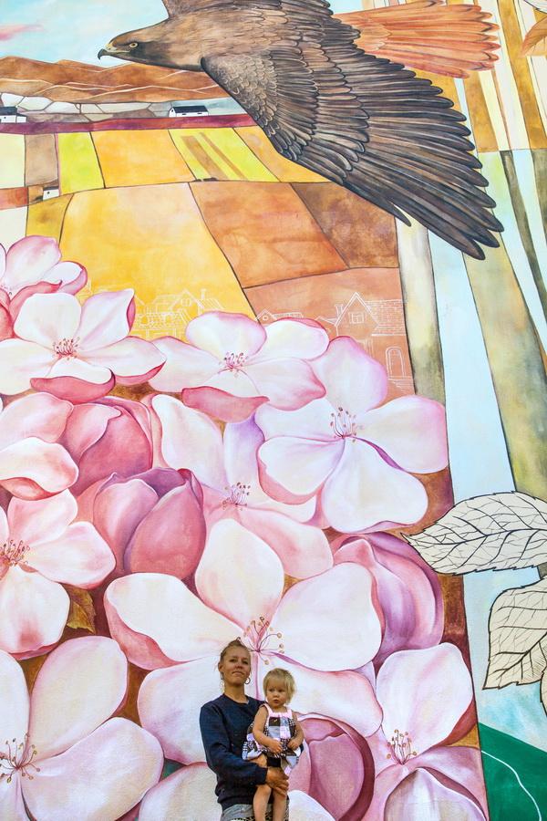 Yulia Avgustinovich Denver Muralist Medford Oregon Mural Historic Floral Colorado Public Art