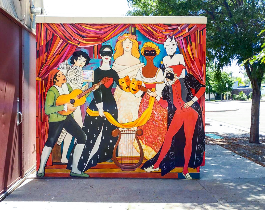 Yulia Avgustinovich Denver Muralist Mural Aurora Fox Theater Colorado public Art