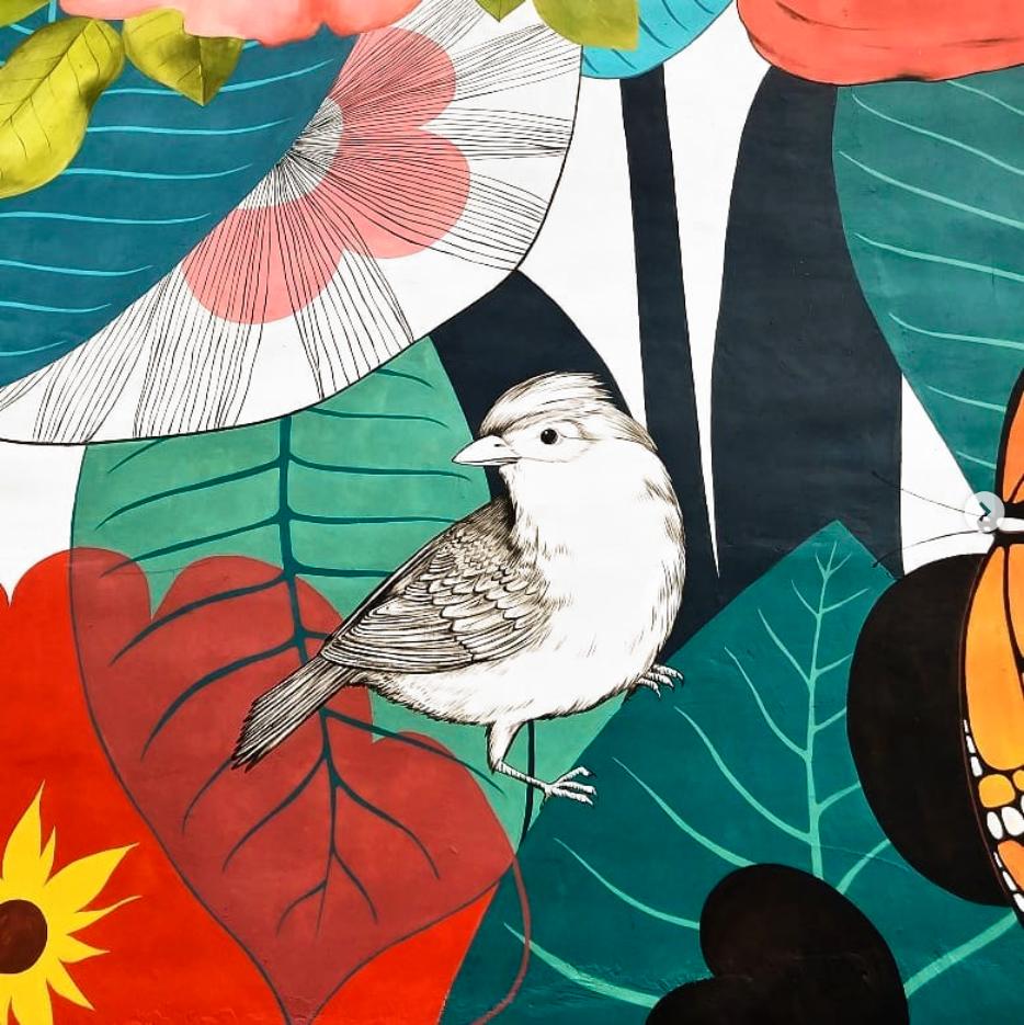 Yulia Avgustinovich Denver Muralist Rockford Mural Illinois Mural Floral Public Art